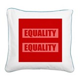 Marriage Equality Equal Sign Square Canvas Pillow