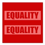 Marriage Equality Equal Sign Square Car Magnet 3""