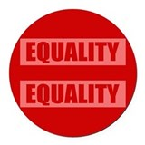 Marriage Equality Equal Sign Round Car Magnet
