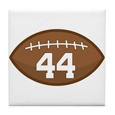 Football Player Number 44 Tile Coaster