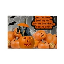 Dachshund Halloween (Black & Tan) Rectangle Magnet
