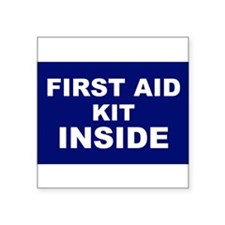 First Aid Kit alert Sticker
