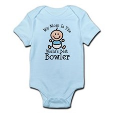 Mom is Worlds Best Bowler Infant Bodysuit