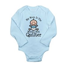 Mom is Worlds Best Quilter Long Sleeve Infant Body