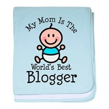 Mom is Worlds Best Blogger baby blanket