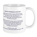 &quot;A Mighty Fortress&quot; Mug (navy/white)
