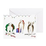 Akita Christmas Greeting Cards (Pk of 10)