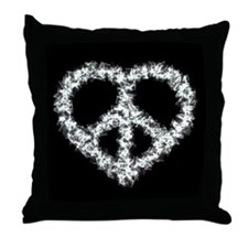 Peace Heart Throw Pillow