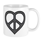 Charcoal Peace Heart Coffee Cup