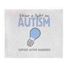 Shine a light on Autism Throw Blanket