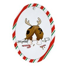 Basset Hound Christmas Oval Ornament