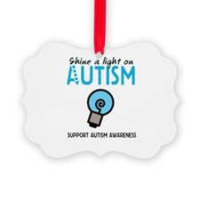Shine a light on Autism Ornament