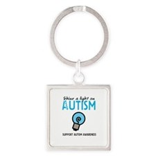 Shine a light on Autism Square Keychain
