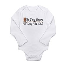 In Dog Beers Long Sleeve Infant Bodysuit