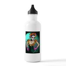 Flowers - Dia de los Muertos Water Bottle
