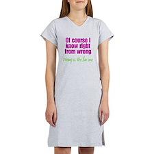 Wrong is Fun Women's Nightshirt