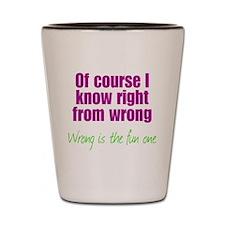 Wrong is Fun Shot Glass