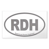 Registered Dental Hygienist RDH Euro Oval Bumper Stickers