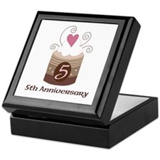 5th Anniversary Cake Keepsake Box