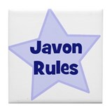 Javon Rules Tile Coaster