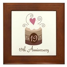 19th Anniversary Cake Framed Tile