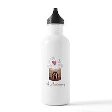 11th Anniversary Cake Water Bottle