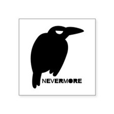 "Nevermore Square Sticker 3"" x 3"""