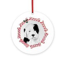 OE Sheepdog Puppy Ornament (Round)