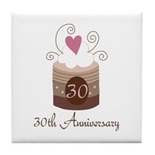 30th Anniversary Cake Tile Coaster