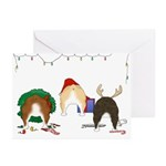 Bulldog Christmas Greeting Cards (Pk of 10)