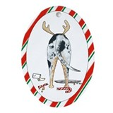 Catahoula Leopard Dog Christmas Oval Ornament