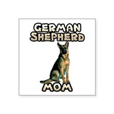 German Shepherd Mom Square Sticker 3