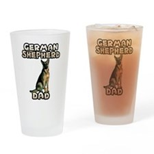 German Shepherd Dad Drinking Glass