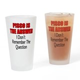 Pisco Is The Answer Drinking Glass