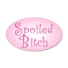 spoiled-b-s.png Oval Car Magnet