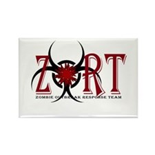 Zombie Outbreak Response Team Logo Rectangle Magne