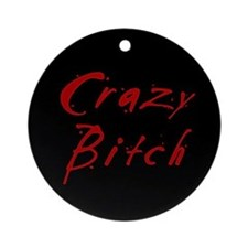 crazy-b-b.png Ornament (Round)