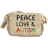 Peace Love &amp; Autism Messenger Bag