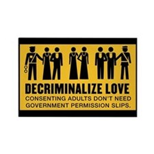 Decriminalize Love Rectangle Magnet
