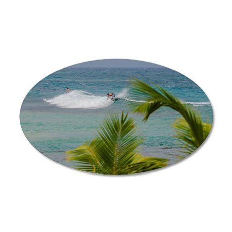 palm surf Wall Decal