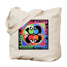Tuxedo Kitties Cat Graphics Tote Bag