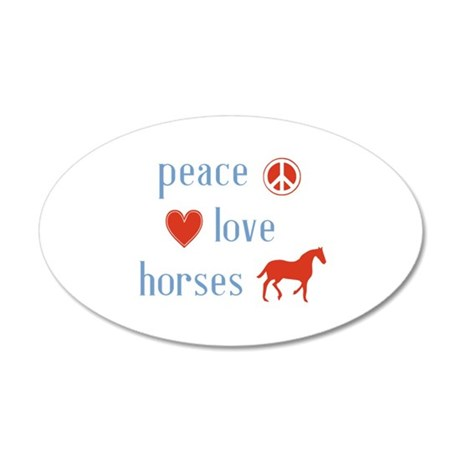 Horse 35x21 Oval Wall Decal