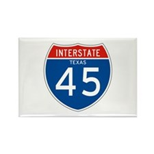 Interstate 45 - TX Rectangle Magnet (10 pack)