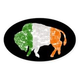 Irish Buffalo Oval Decal