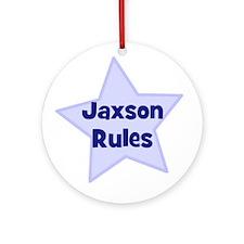 Jaxson Rules Ornament (Round)