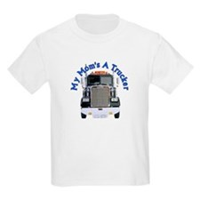 Mom's A Trucker Kids T-Shirt