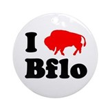 I love Bflo Ornament (Round)