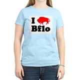 I love Bflo Women's Pink T-Shirt