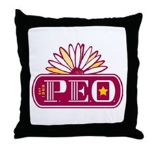 PEO Window Throw Pillow