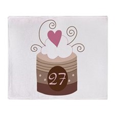 27th Birthday Cupcake Throw Blanket